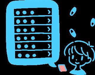 毎日のお薬は選ぶだけで簡単登録。お薬アラームで飲み忘れ防止にも。